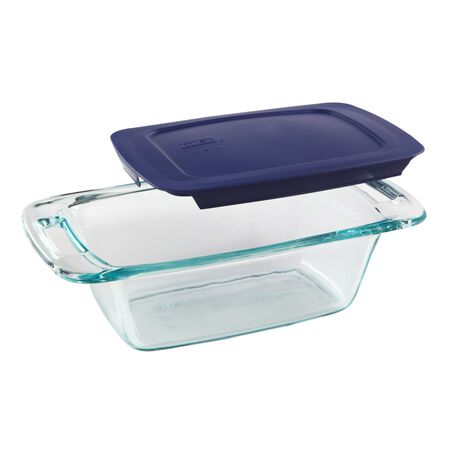 Easy Grab® 1.5-qt Loaf Pan w/ Blue Lid