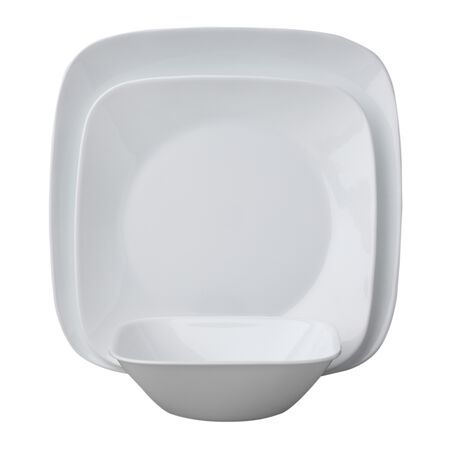 Square™ Pure White 18-pc Dinnerware Set