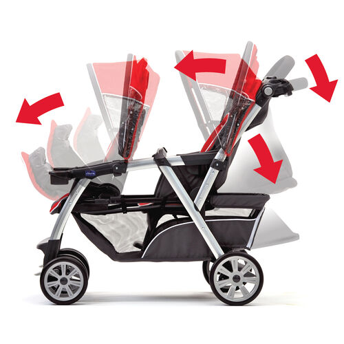 Chicco | Chicco Cortina Together Double Stroller - Romantic