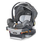 Chicco KeyFit 30 Infant Car Seat and Base in monochromatic light and dark gray with denim-style grey fabric accents - Legend Fashion