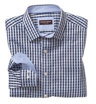 Two-Tone Gingham Shirt