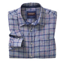 Colorful Plaid Washed Linen Shirt