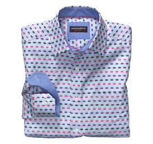 Overlay Twill Stripe Shirt