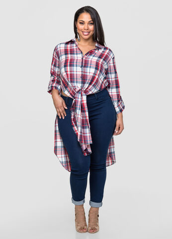 Plaid Duster Top