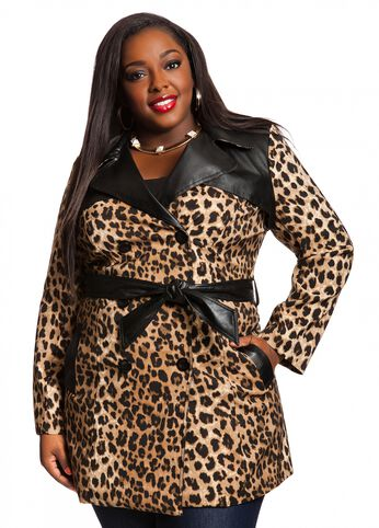 Cheetah Print Trench Coat