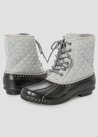 Quilted Duck Boot - Wide Width