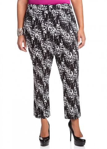 Digital Print Ankle Pant