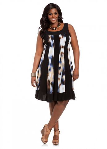 Web Exclusive: Sleeveless Referee Print Dress