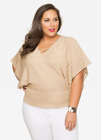 Shadow Stripe Kimono Sweater