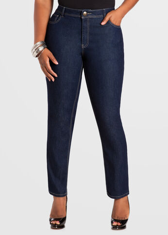 Petite Indigo Skinny 5-Pocket Denim