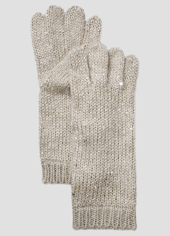 Sequin Blend Knit Glove
