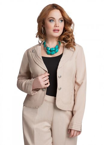 Military Linen Jacket