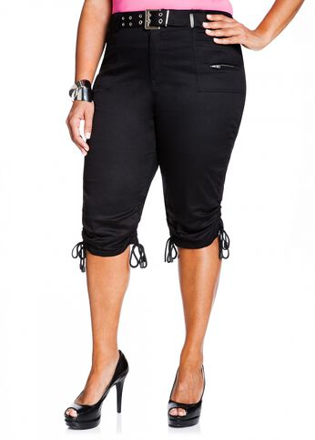 Belted Sateen Cargo Pant