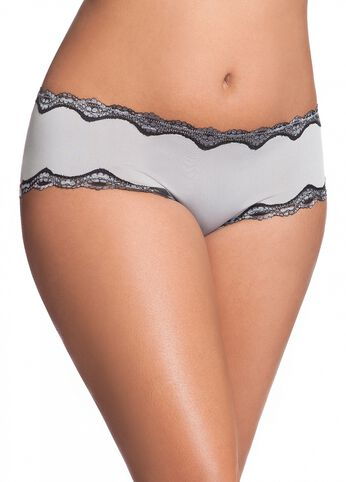 Two-Tone Lace Micro Hipster Brief