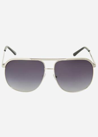 Oversized Metal Aviator Sunglasses