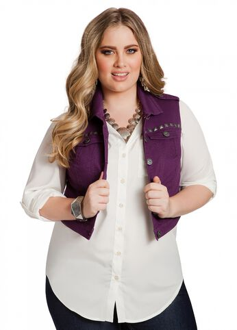 Studded Shoulder Vest