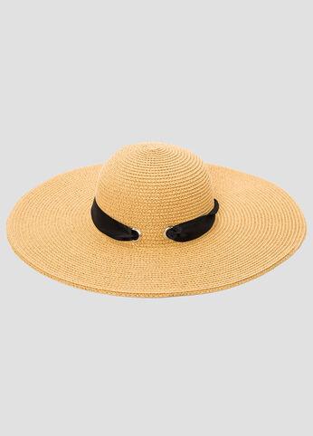 Ribbon Straw Floppy Hat