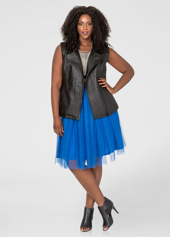 Bright Blue Tulle Skirt