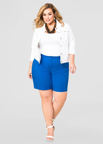 Button Tab Shorts