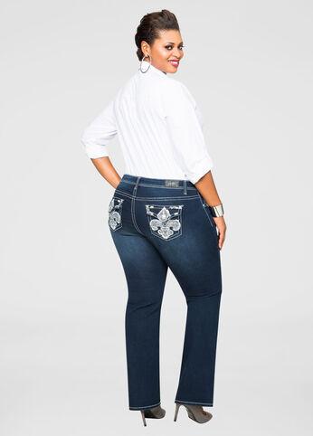 Embellished Pocket Bootcut Jean