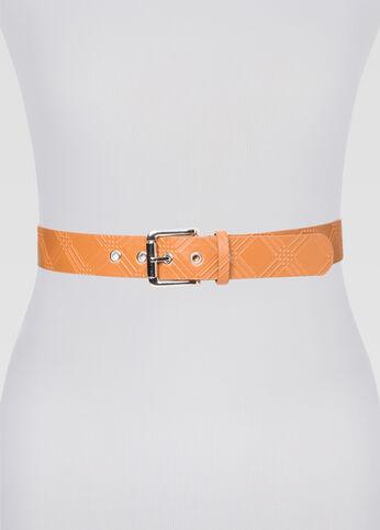 Textured Silver Hardware Belt