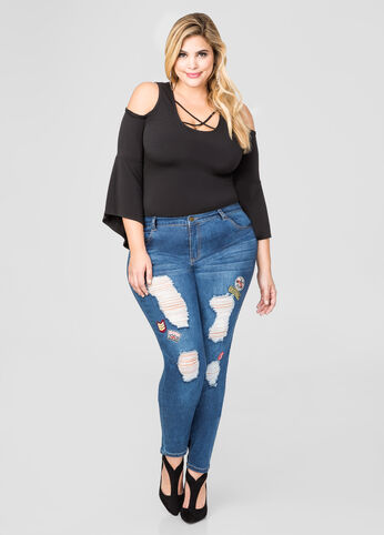 Patches Destructed Skinny Jean