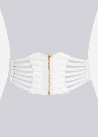Zip Front Corset Belt