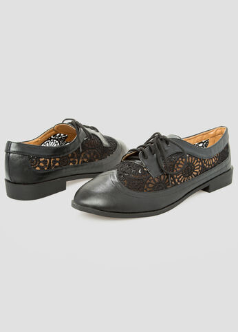 Lace Inset Oxford