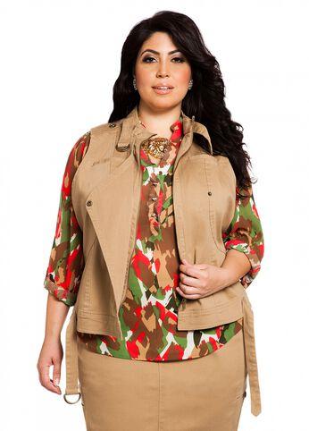 Grommet Military Vest
