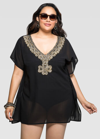 Beaded Dolman Cover-Up