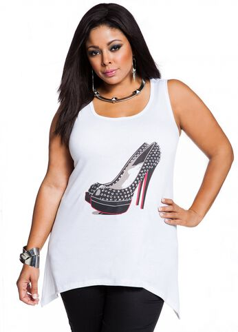Studded Shoe Screen Tank
