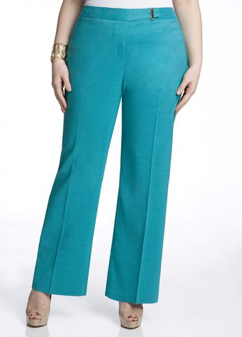 Gold Buckle Embellished Pant