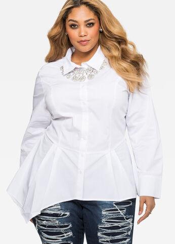 Asymmetrical Peplum Shirt