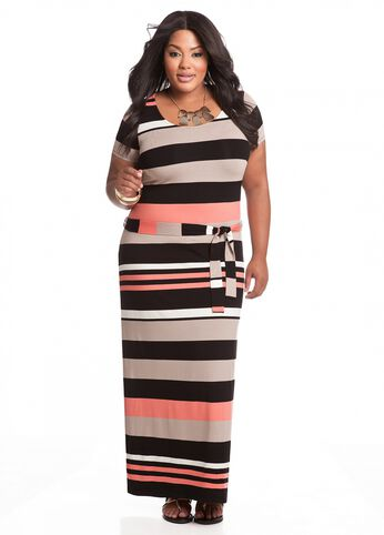 Thick Striped Maxi Dress