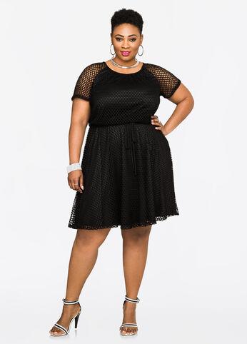 Blouson Mesh Dress