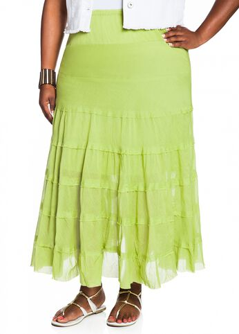 Web Exclusive: Long Solid Voile Skirt