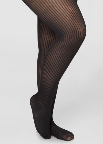 Ribbed Opaque Tights