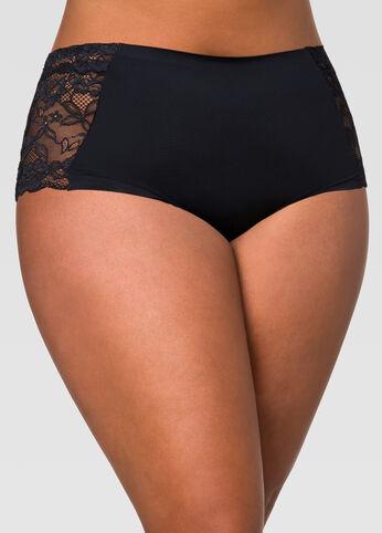 Lace Insert Micro Bikini Panty