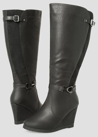 Tall Wedge Boot - Wide Calf, Wide Width