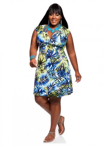 Web Exclusive: Tropical Twisted Knot Dress
