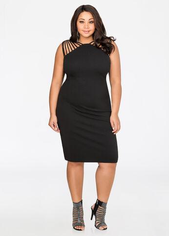 Strappy Shoulder Bodycon Dress