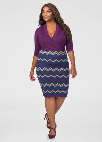 Chevron Sweater Skirt