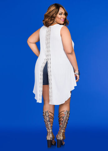 Hi-Lo Top with Crocheted Back