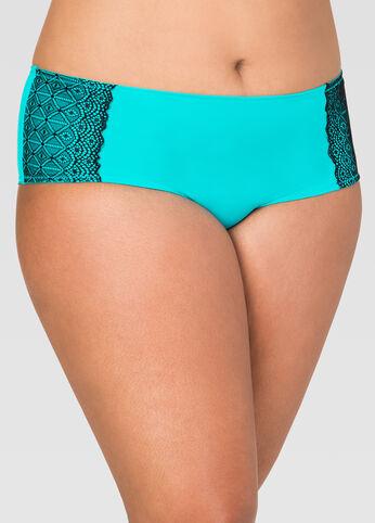 Seamless Laser Cut Lace Boyleg Panty