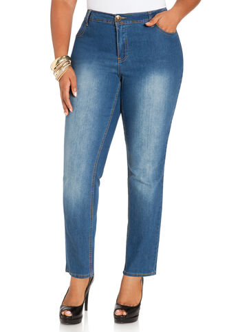 Tall Medium Wash Five Pocket Denim