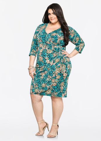Status Grommet Lace-Up Side Dress