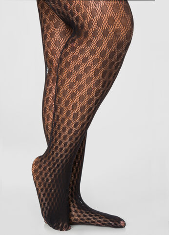 Dotted Net Tights