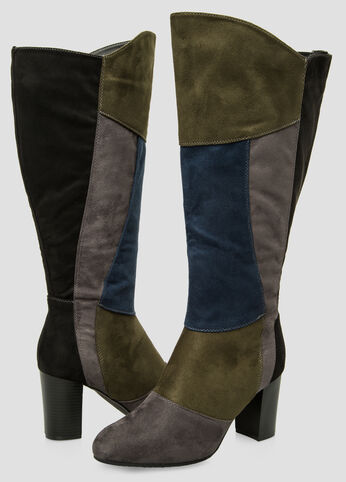 Colorblock Tall Boot - Wide Calf, Wide Width