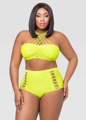 Criss Cross Bra Bikini Top