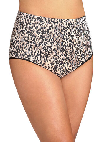 Animal Print Belly Band Shaping Brief